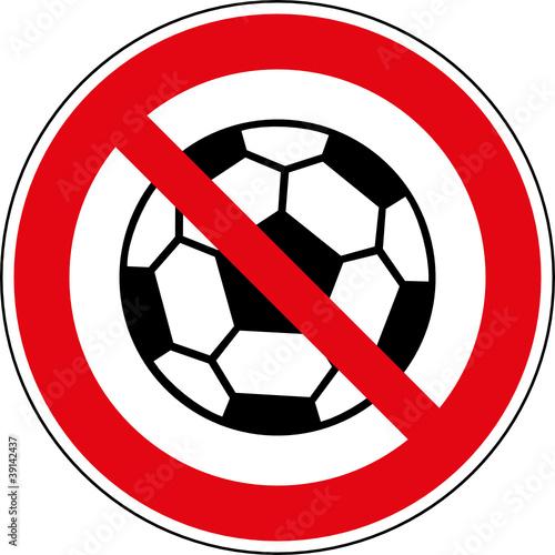 Verbotsschild Fussball Spielen Verboten Zeichen Buy This