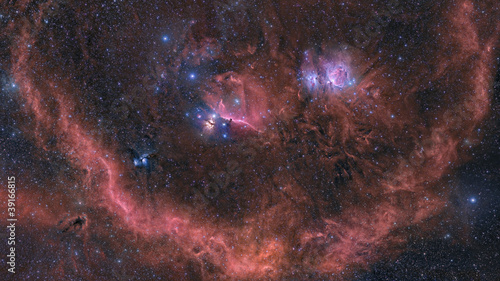 Nebulosity in Orion