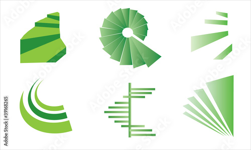 Spiral Stairs vector logo Canvas-taulu