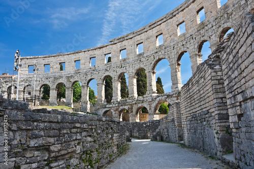 ancient amphitheater in Pula, Croatia