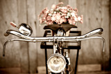 Old bicycle and flower  vase