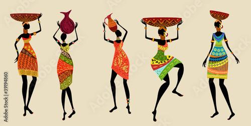Fototapeta African women in traditional dress obraz