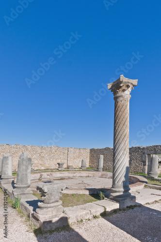 In de dag Rudnes Columns House at Volubilis, Morocco