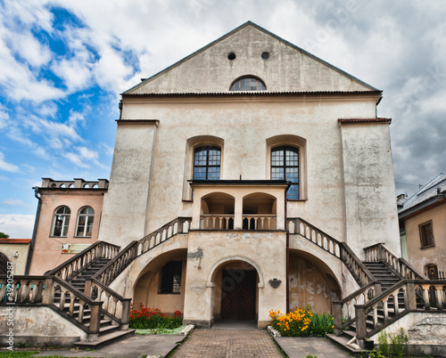 Obraz Stara Synagoga Izaaka na krakowskim Kazimierzu, Polska - fototapety do salonu