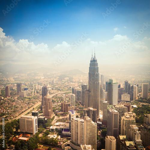 modern city in Kuala Lumpur Poster