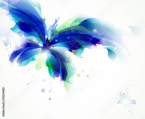 abstrakcjonistyczny-motyl-z-blekitnymi-i-cyan-kleksami