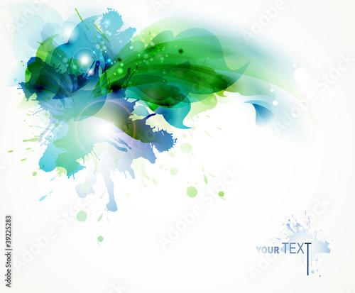 abstrakcjonistyczny-tlo-z-blekitnymi-i-zielonymi-kleksami