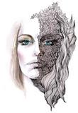 abstrakcyjna twarz zdobiona (seria C) - 39228638