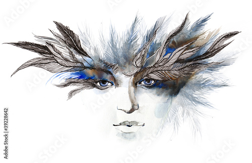 feathers around eyes (series C)