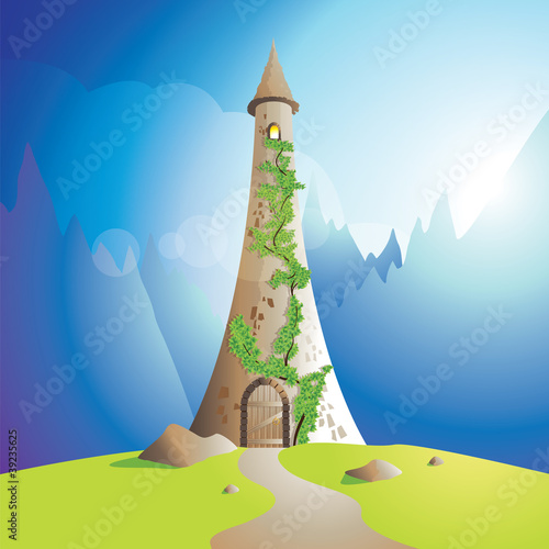 rapunzel tower Canvas Print
