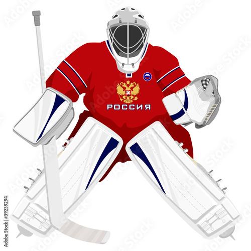 Fotografía Team Russian hockey goalie
