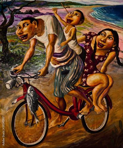 Obraz w ramie Oil on canvas. Art picture.