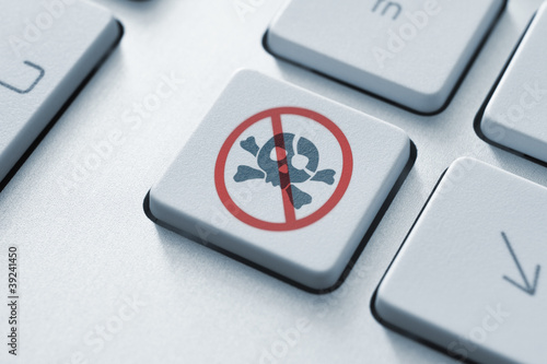 Fotografie, Obraz  Anti Piracy Key