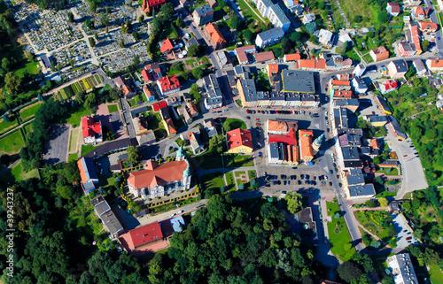 Polish Otmochow town from the sky © mariusz szczygieł