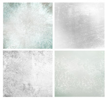 Set Of Different Grey Abstract Backgrounds