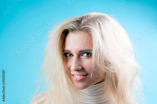 Portrait of pretty blonde