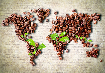 Fototapeta Kawa Coffee around the world