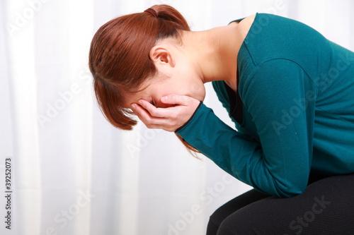 Fotografía  depressed woman