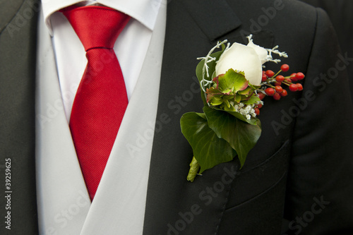 Groom and corsage Poster Mural XXL