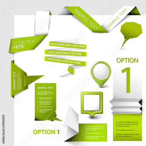 Fotografía  Set of Vector web elements
