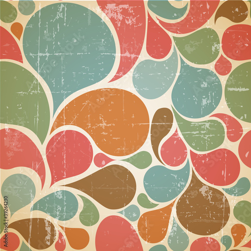Vector Colorful abstract retro  pattern Wallpaper Mural