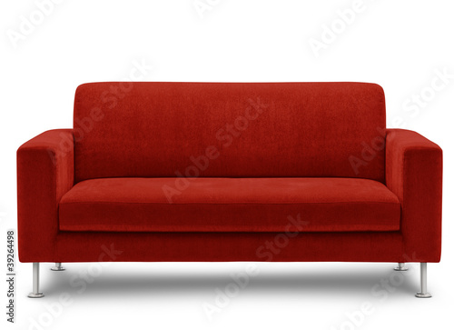 Fotografering sofa furniture isolated on white background