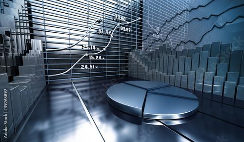 Cuadros en Lienzo Stock market abstract background