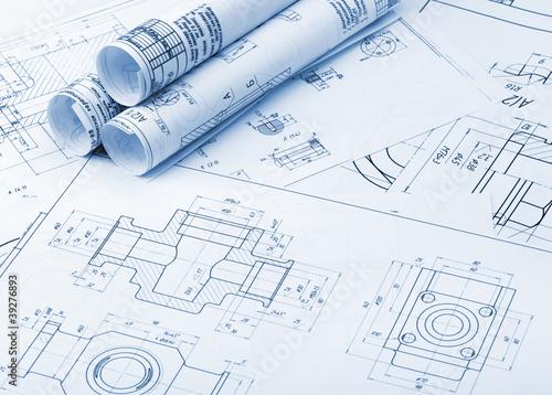Fotografie, Obraz  The plan industrial details