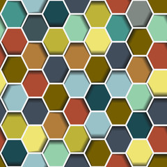Naklejka 3D Seamless abstract hexagon pattern