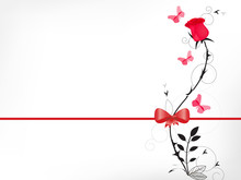 Red Rose With A Bow