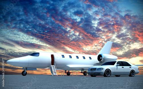 Plakaty samoloty   samolot-i-samochod