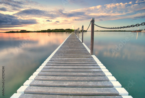 pontoon jetty across the water