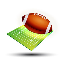 Symbole Vectoriel Football Américain