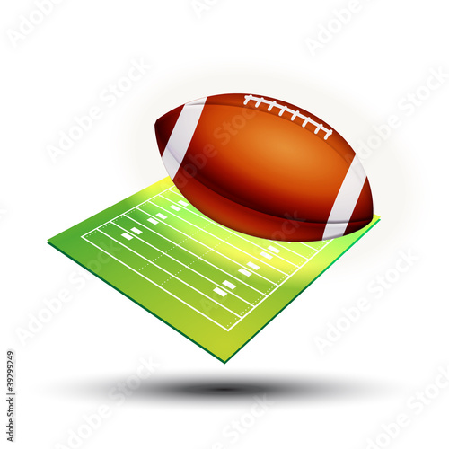 Symbole vectoriel Football Américain Canvas Print