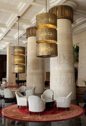 Photo  Egyptian themed hotel in Dubai, United Arab Emirates