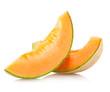 canvas print picture - cantaloupe melon slices