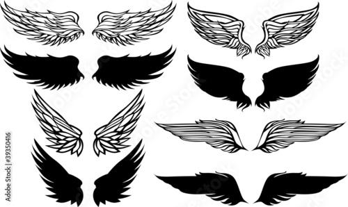 Wings Graphic Vector Set. Tapéta, Fotótapéta