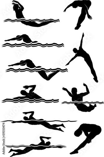 Fotografía  Swimming & Diving Male Silhouettes