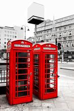 Red Telephone Boxes, London, UK.