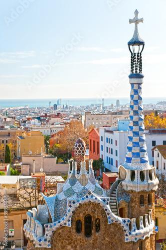 Fototapeta na wymiar Park Guell in Barcelona, Spain.