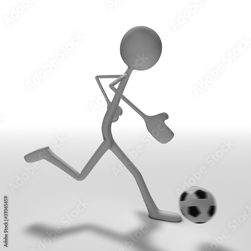 stickman - soccer Canvas Print