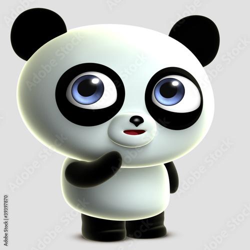 Foto op Aluminium Sweet Monsters cute cartoon panda