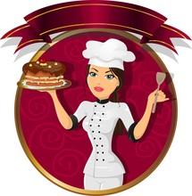 Brunette Woman Pastry Chef