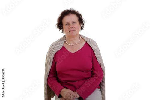 Fotografía  Ernsthafte Seniorin