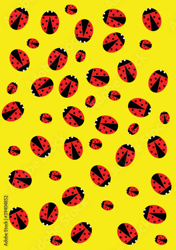 Aluminium Prints Ladybugs Ladybugs background