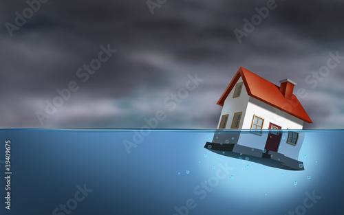 Carta da parati Real Estate Crisis