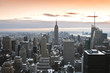 Manhattan Skyline - tramonto con neve