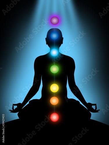 Fotografie, Obraz  meditation, chakras