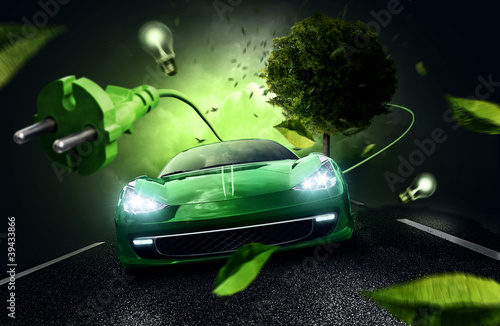 Fototapety, obrazy: Electric Car Concept
