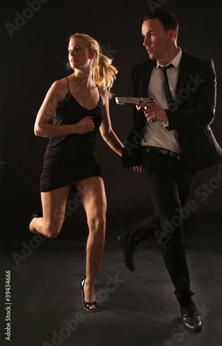 Photographie  Bond und Bondgirl